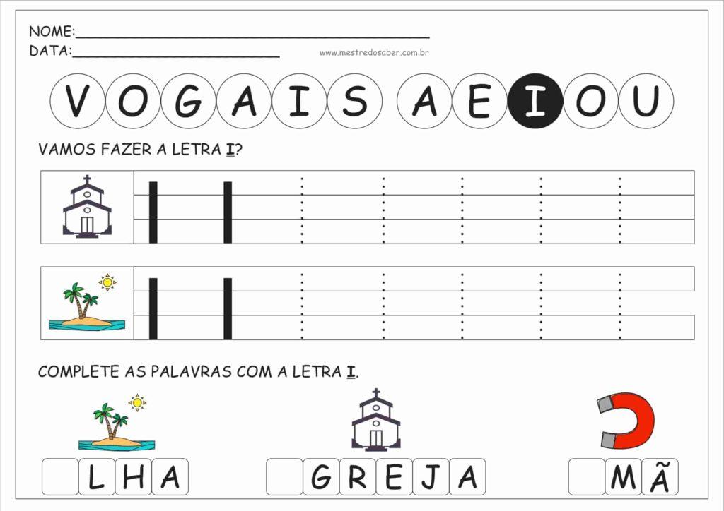 3 - Atividades com Vogais Pontilhadas