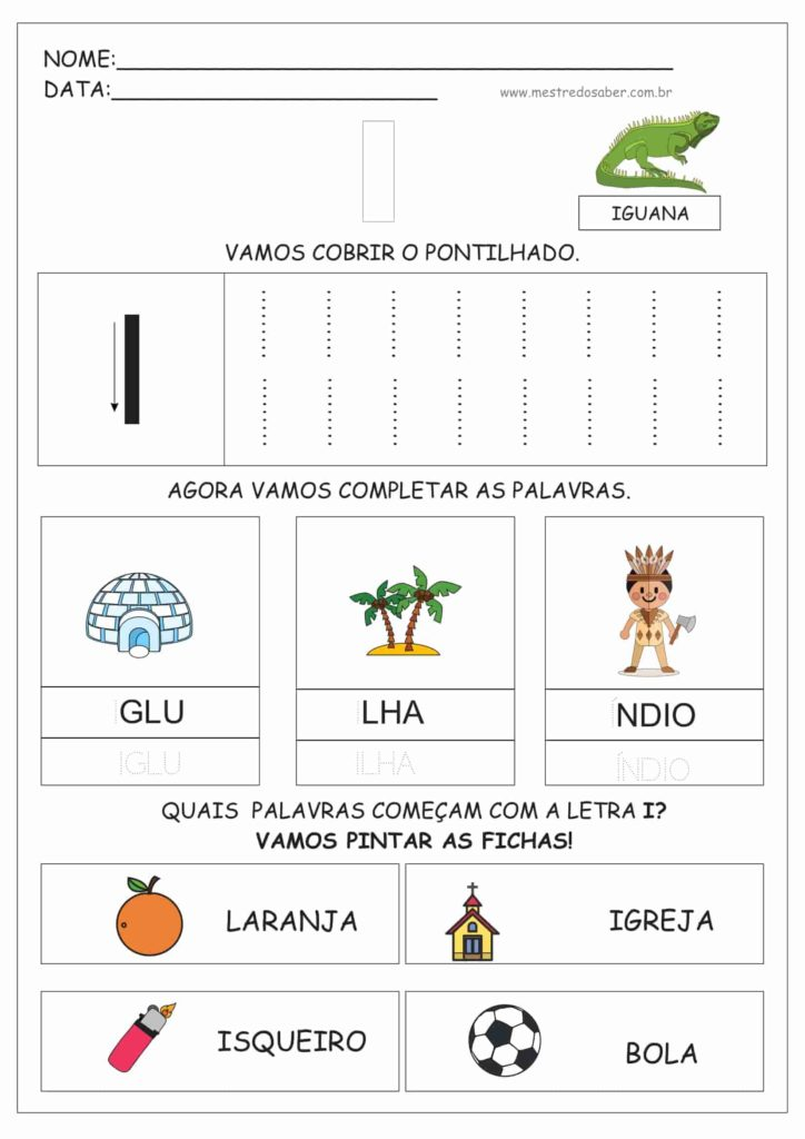 3 - Atividades de Alfabetização para Educação Infantil