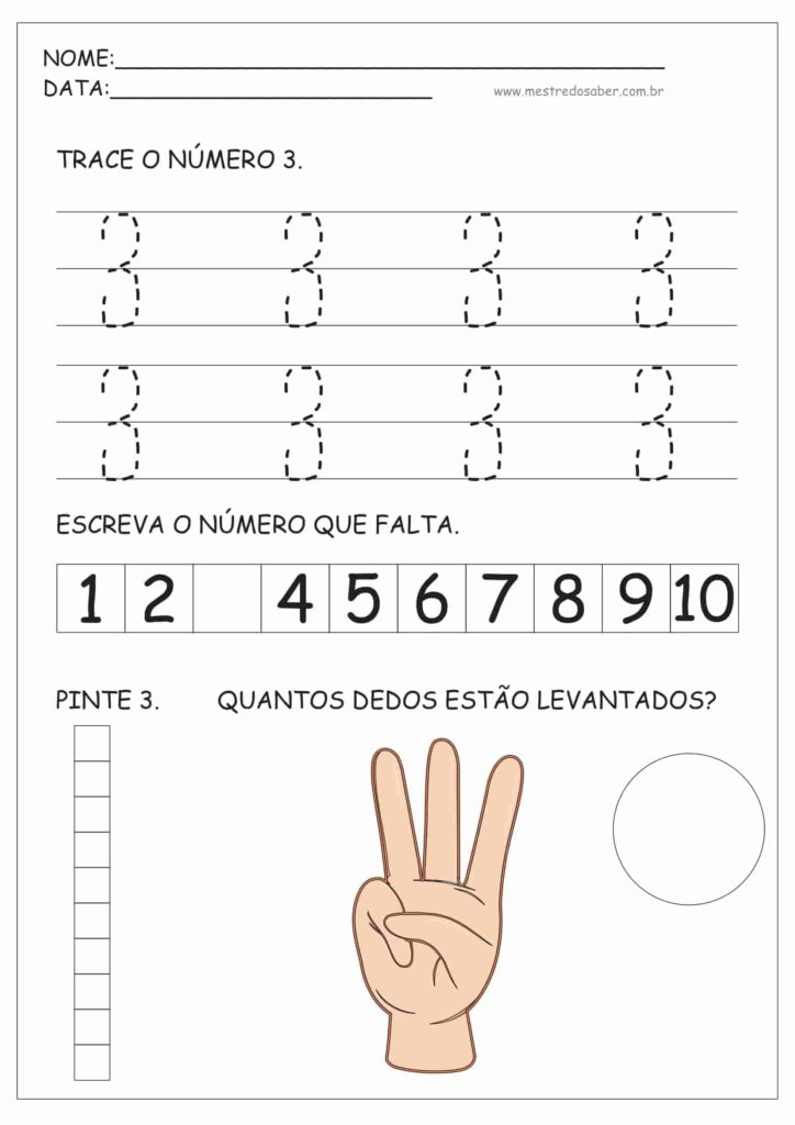 3 - Atividades de Educação Infantil e Números