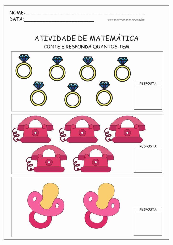 3 - Atividades de Matemática Educação Infantil
