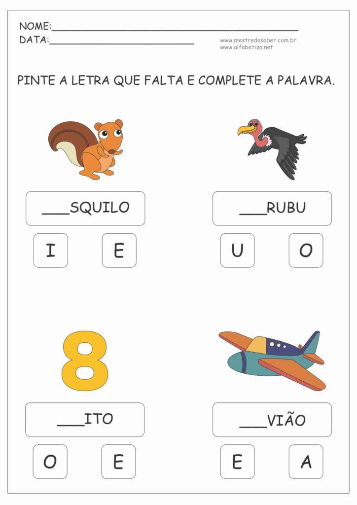 3 - Atividades para Alfabetização Infantil