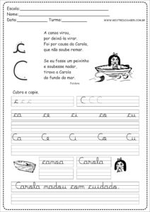 3 - Caderno de Caligrafia letra C