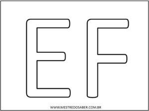 3 - Molde de Letras Grandes