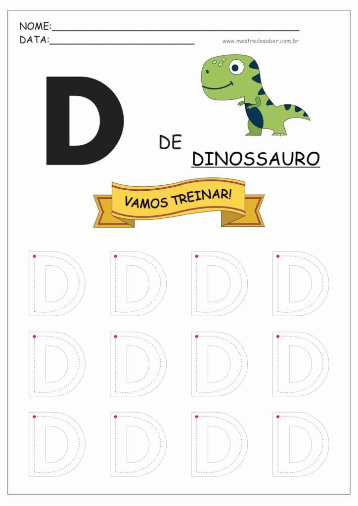Letra D - Alfabeto Pontilhado para Imprimir