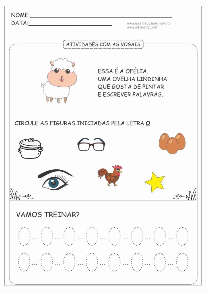 4 - Atividades com as Vogais Educação Infantil