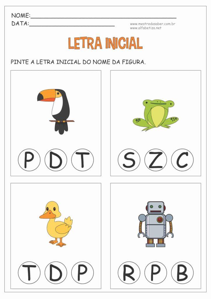 4 - Atividades com Letra Inicial para Educação Infantil