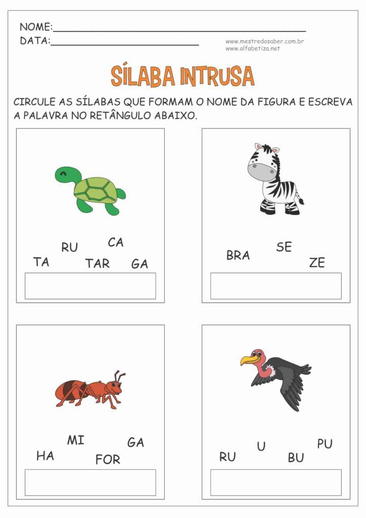 4 - Atividades com Sílabas para Alfabetização