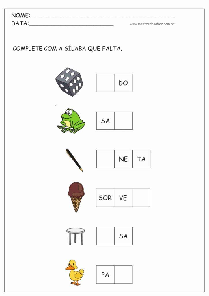 9 - Sílabas Simples