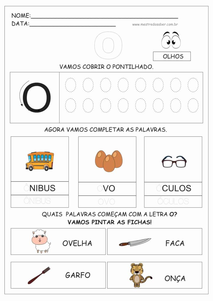 4 - Atividades de Alfabetização para Educação Infantil