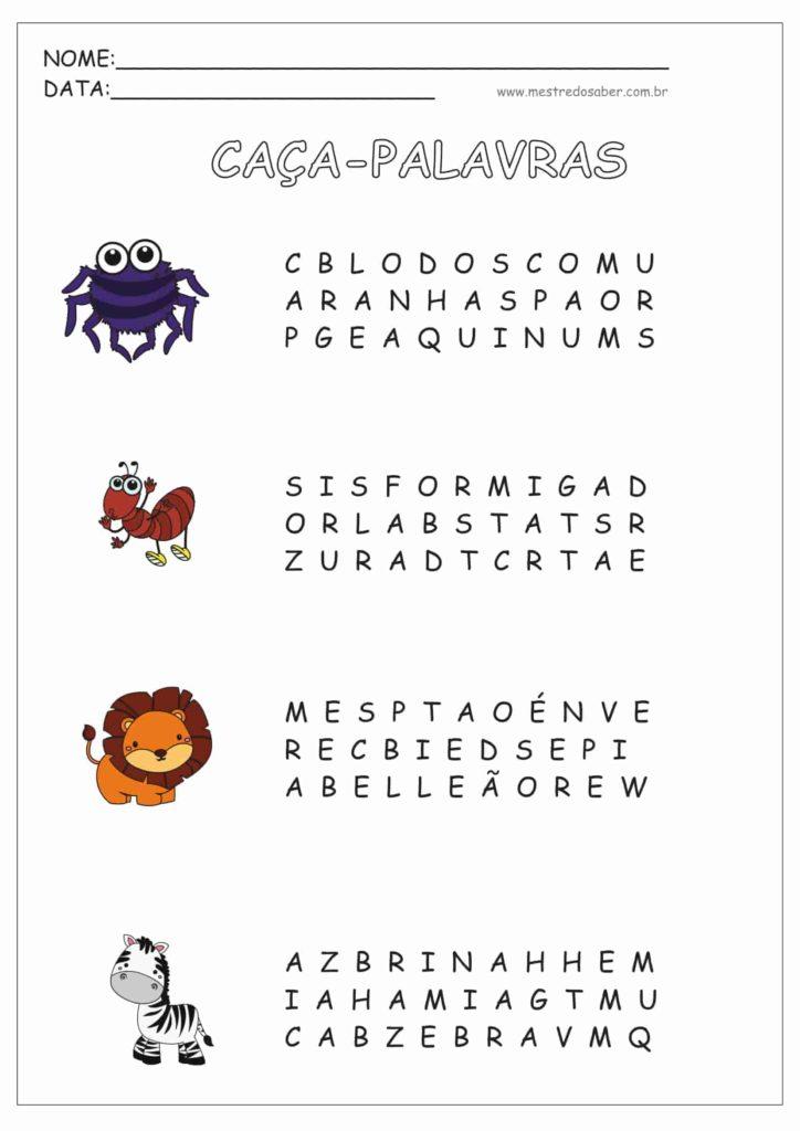 4 - Atividades de Alfabetização para Imprimir