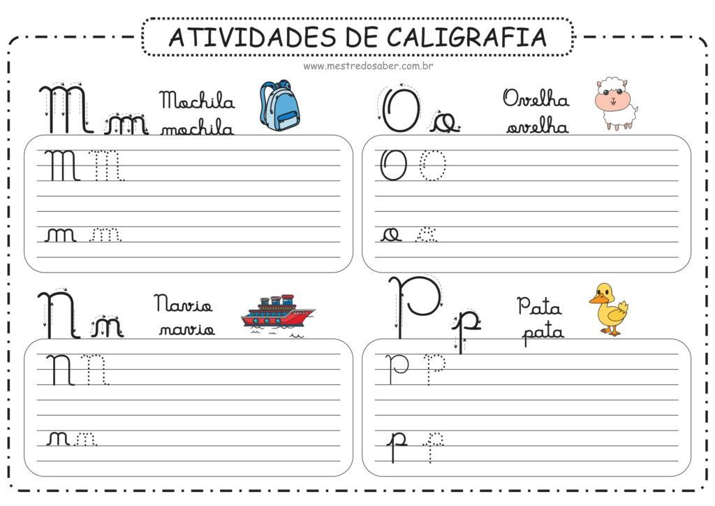 4 - Atividades de Caligrafia