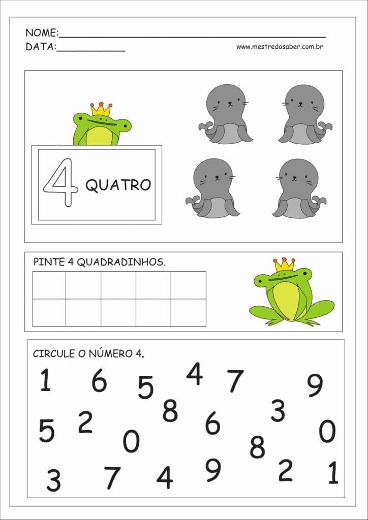 4 - Atividades Educação Infantil Números e Quantidades