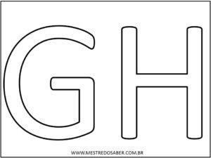 4 - Molde de Letras Grandes