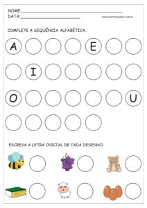 5 - Atividades com Alfabeto