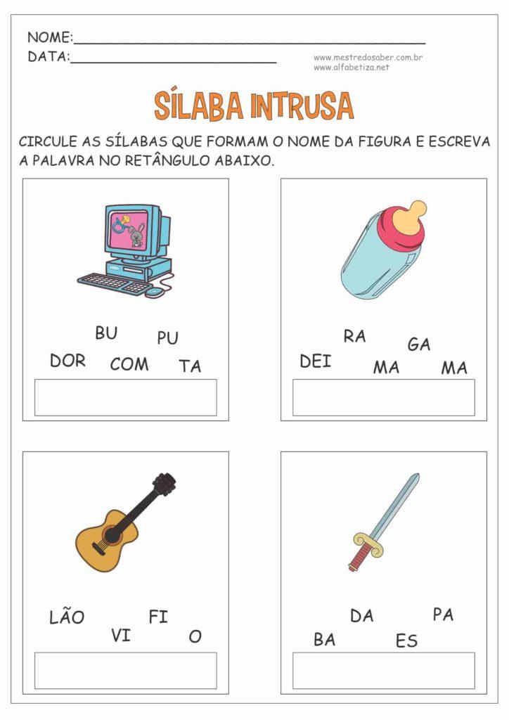 5 - Atividades com Sílabas para Alfabetização