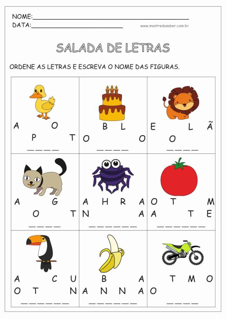 5 - Atividades de Alfabetização para Imprimir
