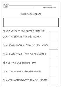 5 - Atividades de Português 1 ano