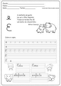 5 - Caderno de Caligrafia letra E