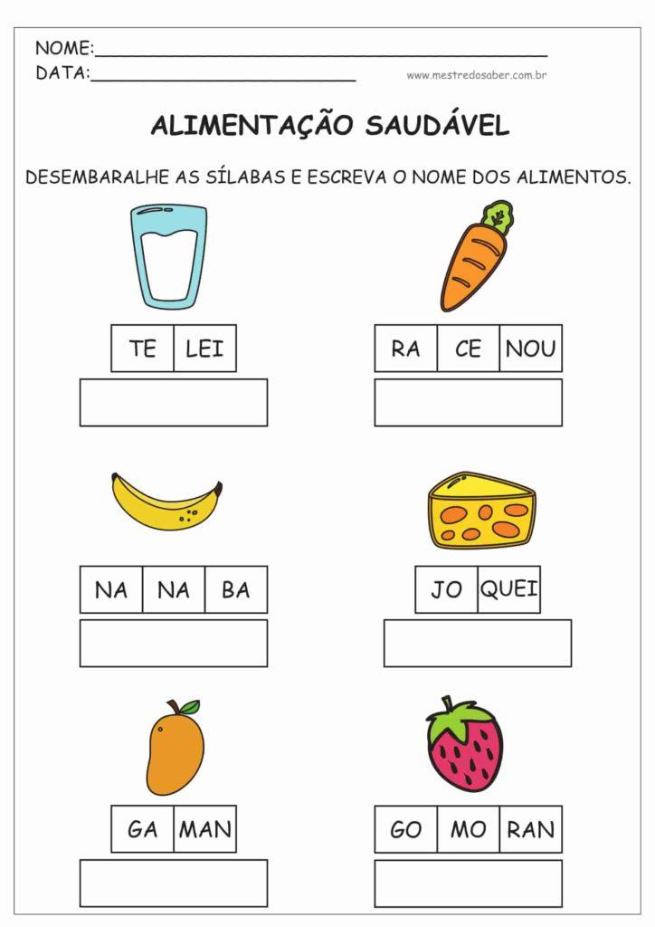 Atividades Alimentação Saudável