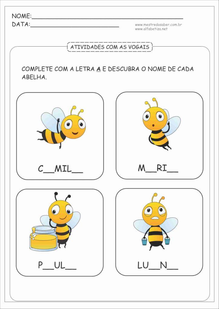 6 - Atividades com as Vogais para Educação Infantil