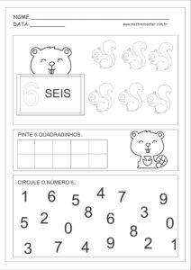 6 - Atividades com Números Educação Infantil
