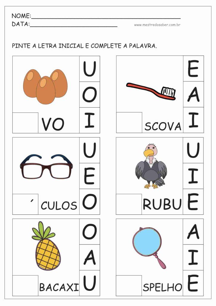 6 - Atividades de Alfabetização para Educação Infantil 5 anos