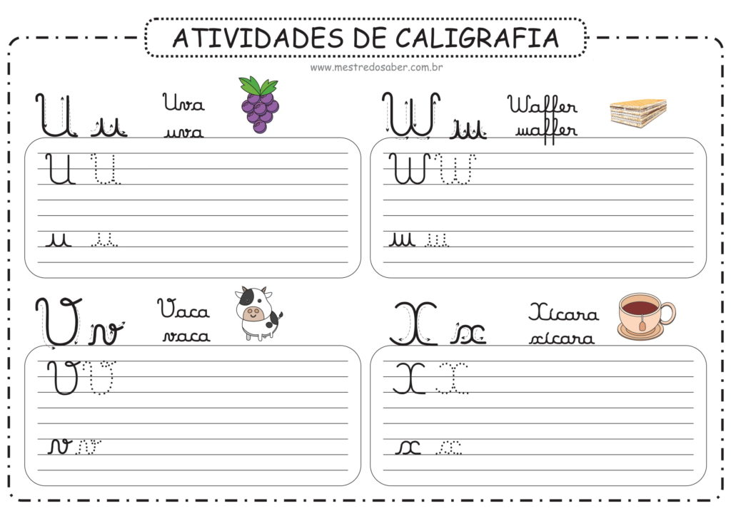 6 - Atividades de Caligrafia