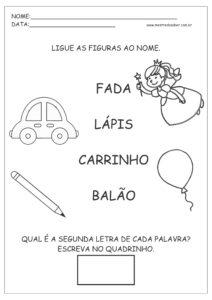 6 - Atividades de Português 1 ano