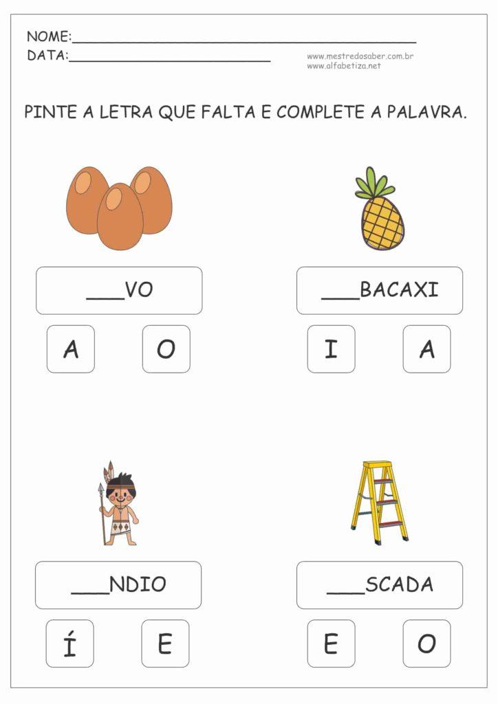 6 - Atividades para Alfabetização Infantil