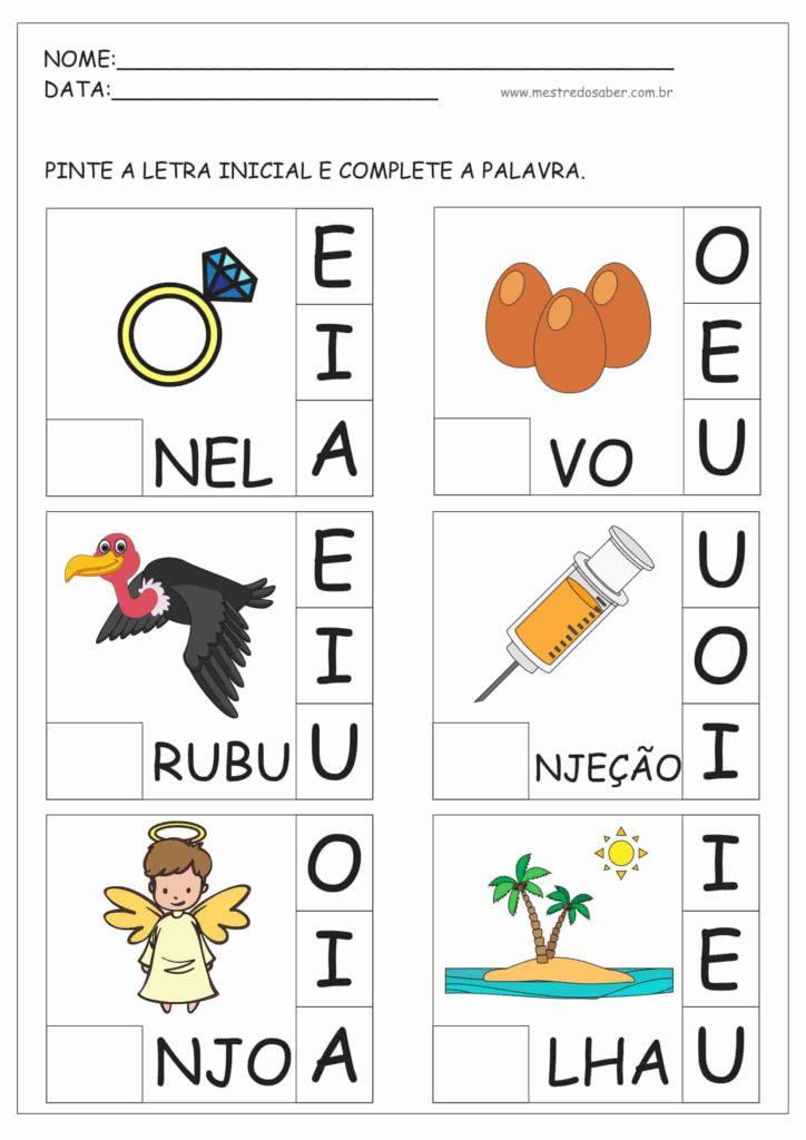 6 - Atividades para Educação Infantil 5 anos