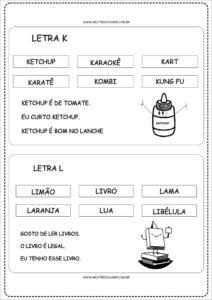 6 - Fichas de Leitura para Alfabetização
