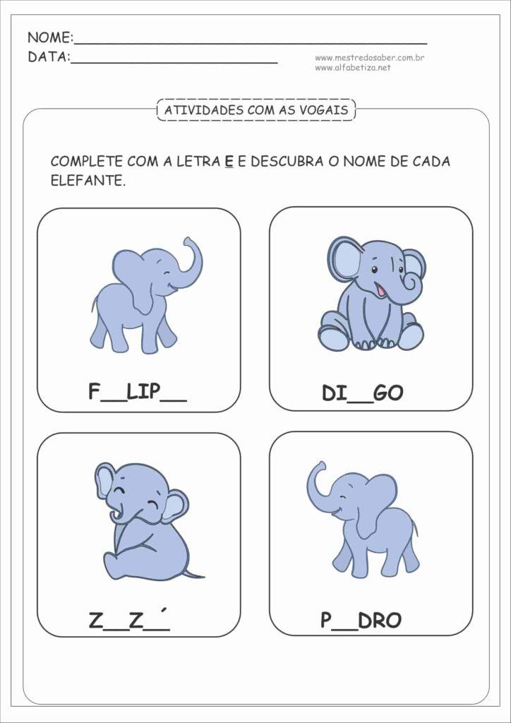 7 - Atividades com as Vogais para Educação Infantil