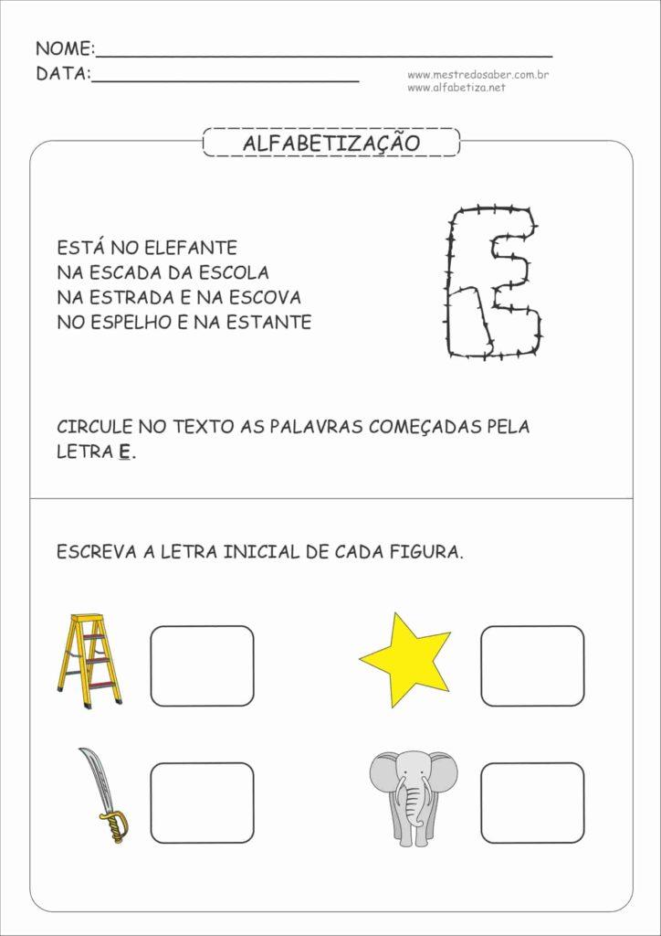 2 - Atividades de Alfabetização para Educação Infantil 5 anos