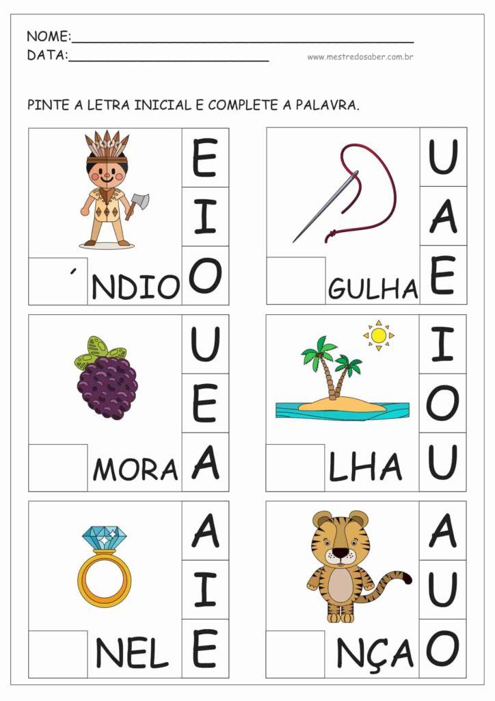 7 - Atividades de Alfabetização para Educação Infantil 5 anos