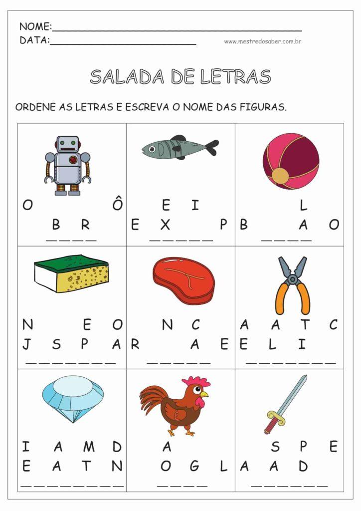 7 - Atividades de Alfabetização Português