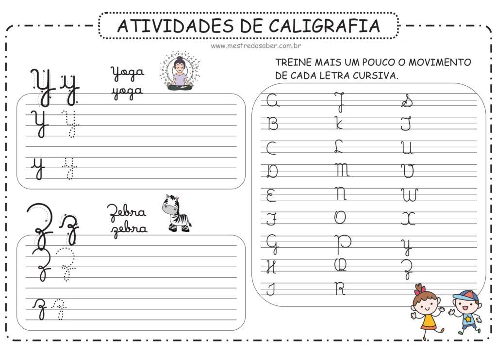 7 - Atividades de Caligrafia