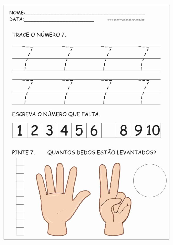 7 - Atividades de Educação Infantil e Números