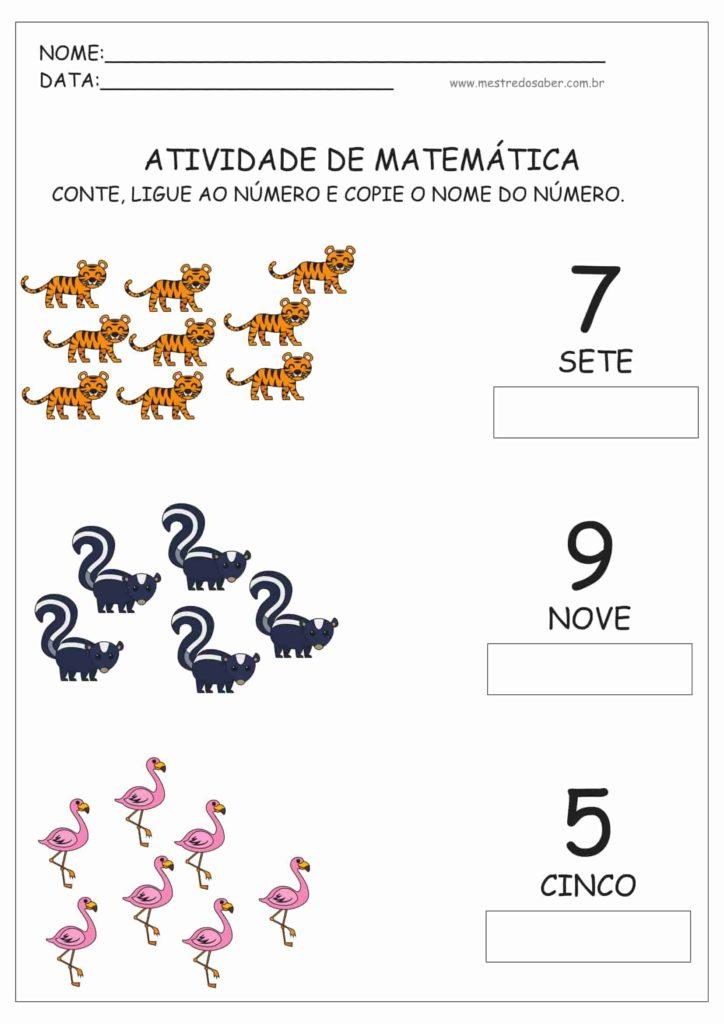 7 - Atividades de Matemática Educação Infantil