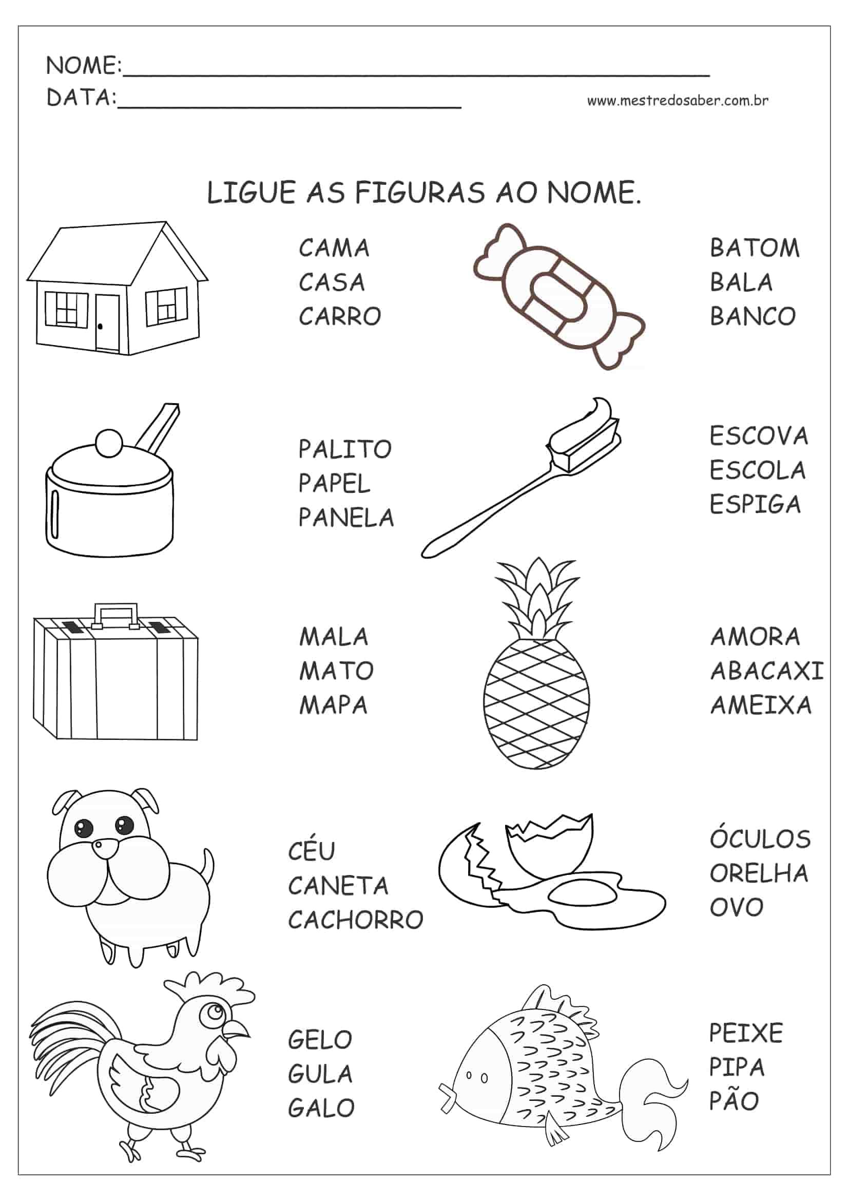 30 Atividades De Portugues 1 Ano Mestre Do Saber