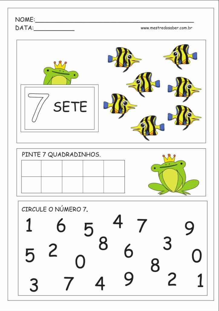 7 - Atividades Educação Infantil Números e Quantidades