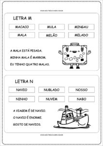 7 - Fichas de Leitura para Alfabetização