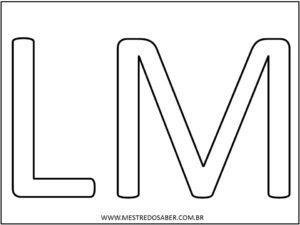 7 - Molde de Letras Grandes para Imprimir