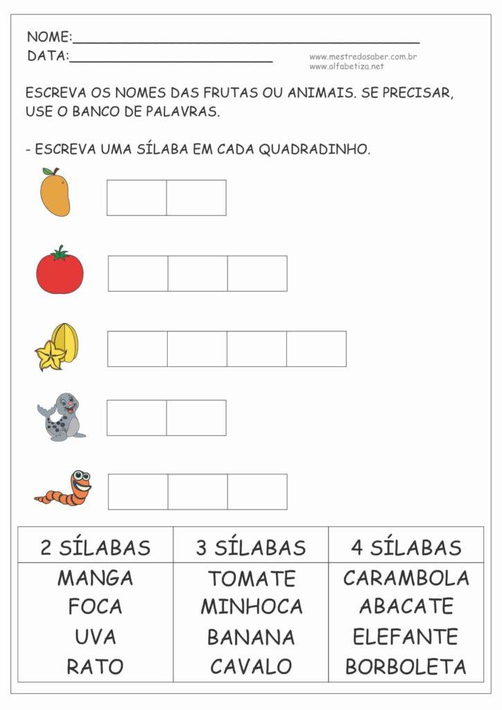 7 - Atividades de Português para segundo ano