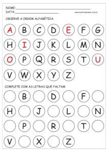 8 - Atividades Alfabeto Educação Infantil