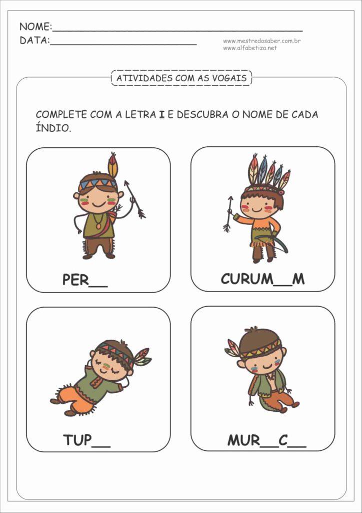8 - Atividades com as Vogais para Educação Infantil