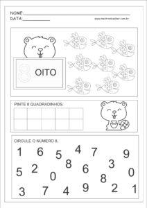8 - Atividades com Números Educação Infantil