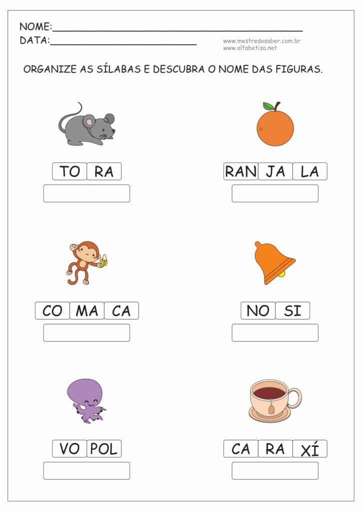 8 - Atividades de Alfabetização e Letramento