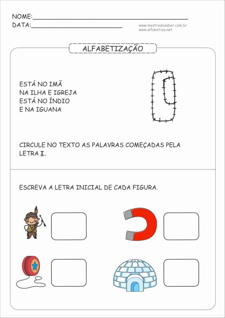 3 - Atividades de Alfabetização para Educação Infantil 5 anos