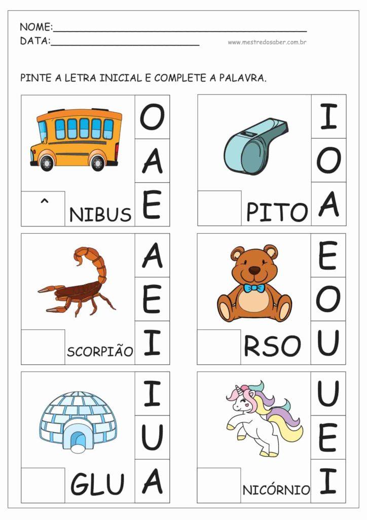 8 - Atividades de Alfabetização para Educação Infantil 5 anos