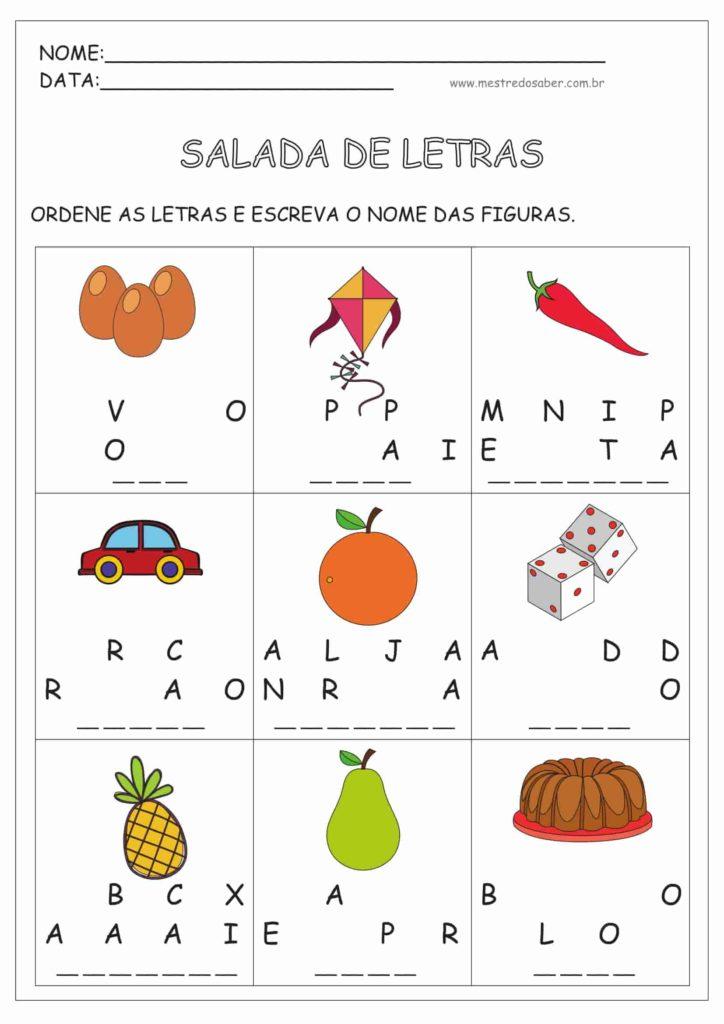 8 - Atividades de Alfabetização Português